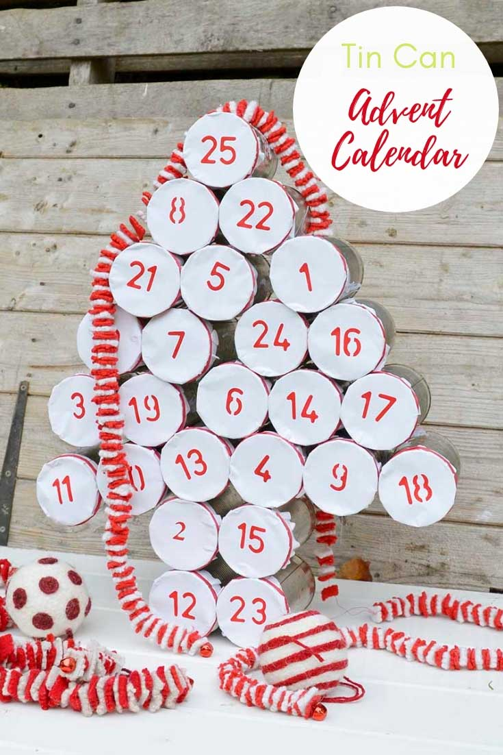 upcycled advent calendar with tin cans pin2