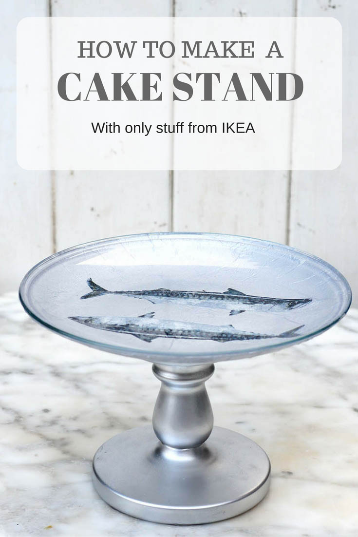 Its cheap and easy to make your own cake stand with napkins, plate and candlestick all from IKEA.