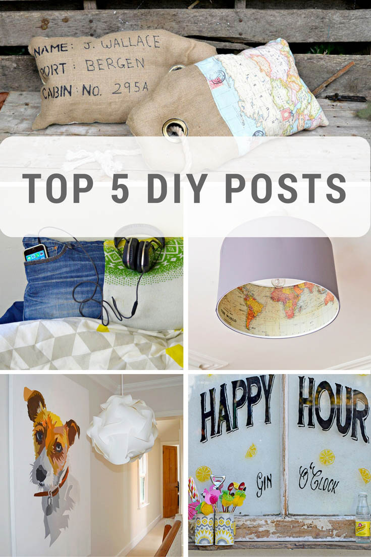 Top 5 DIY posts from Pillarboxblue.com
