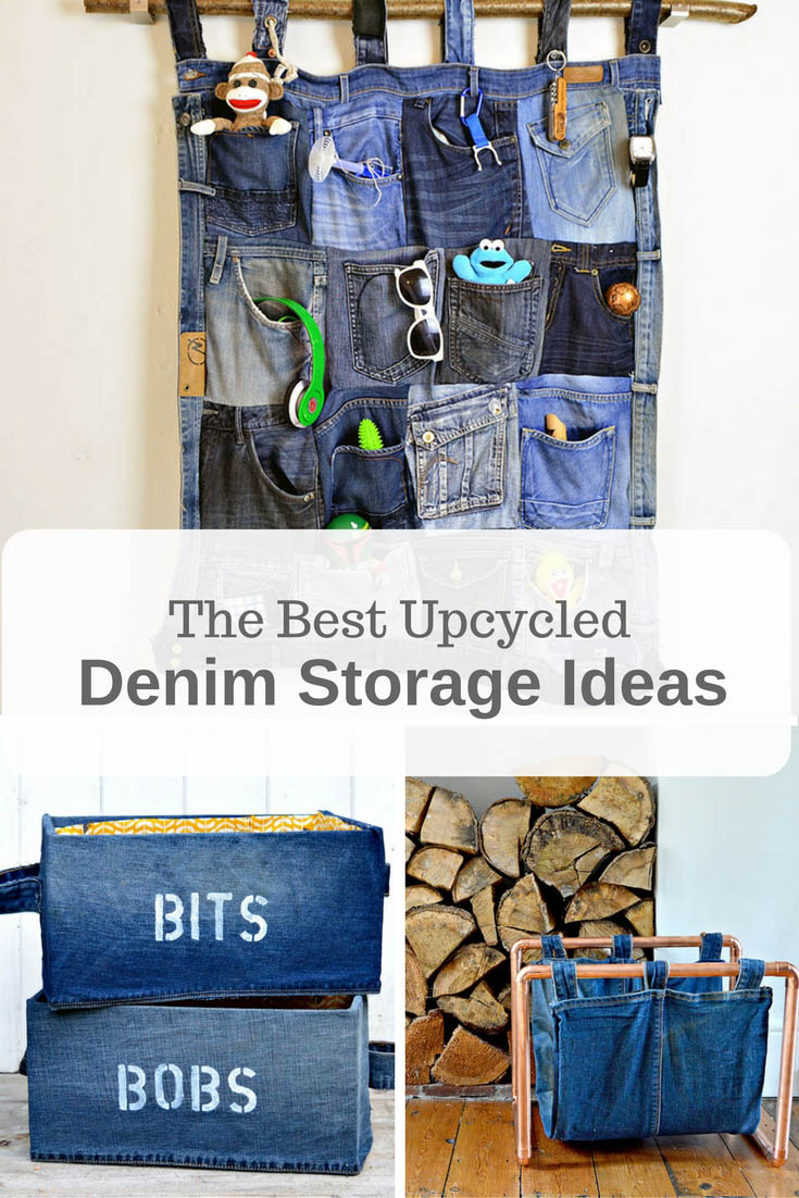 Brilliant Upcycled Denim Storage Ideas Pillar Box Blue