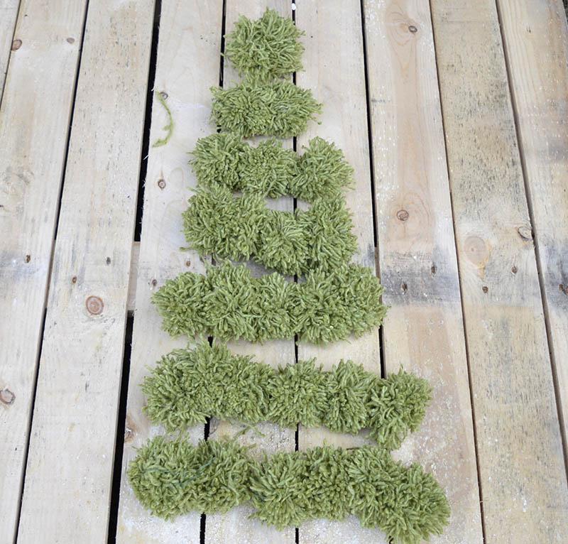 Pom Pom Christmas tree decoration