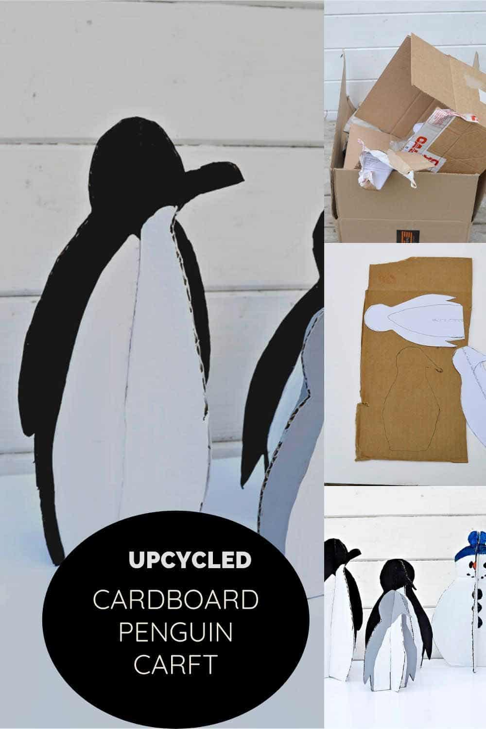 repurposed Cardboard penguins