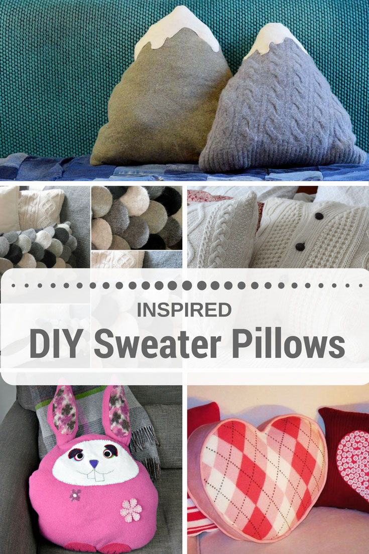 It's so easy to upcycle sweaters into an amazing sweater pillow.  These are my favourite five inspired sweater pillow tutorials.