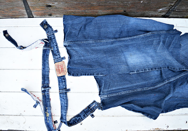 Of Denim Around The Batting And Staple Gun To Underside Plywood Waistband Jeans Was Glued Outside Edge Ottoman Lid