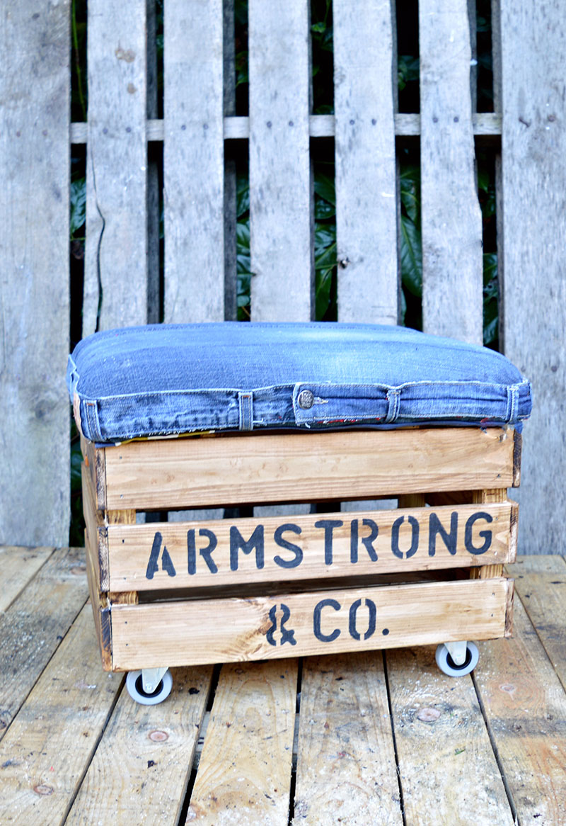 Nifty Denim Diy Ottoman Crate With Storage An Ikea Hack