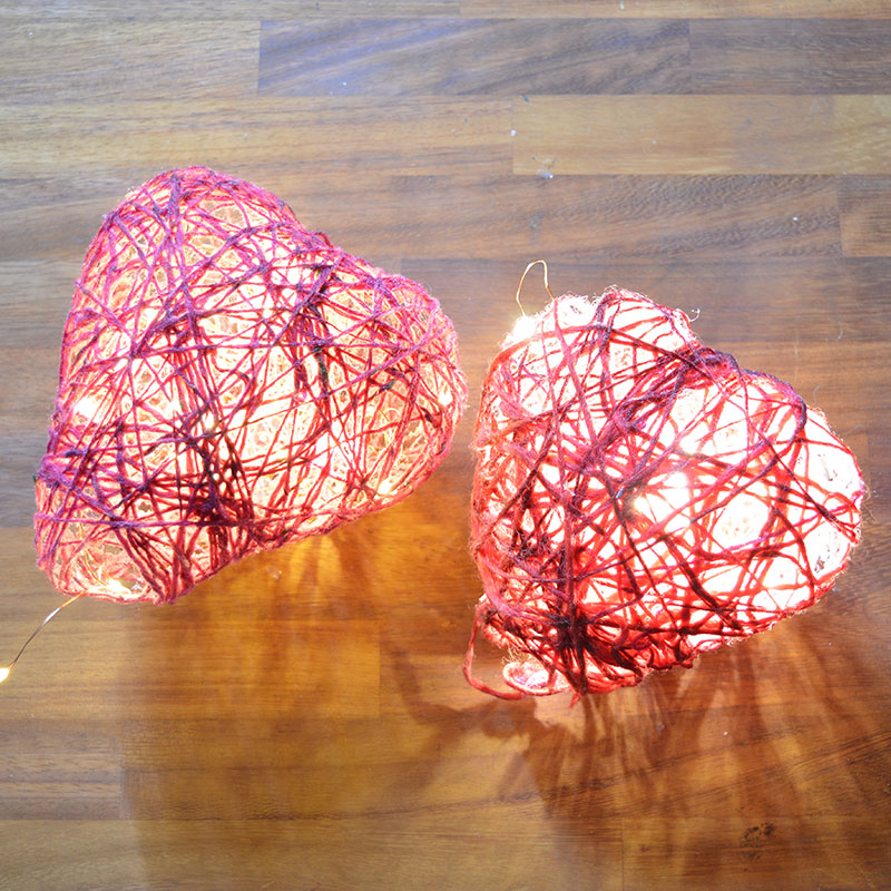 Illuminated Valentine's Light Decorations DIY