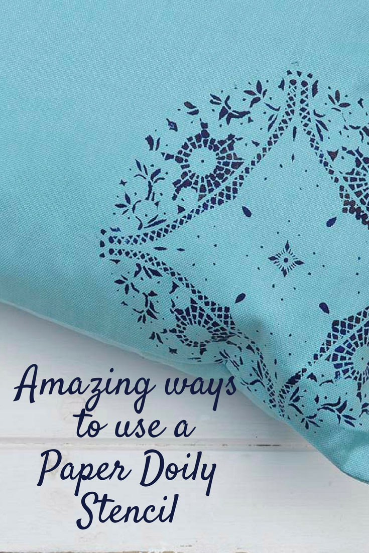 The most amazing ways to use paper doily stencils.  To transform the most mundane into something with a bit of vintage chic.