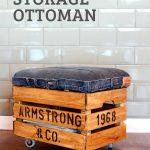 DIY rolling Storage Ottoman