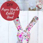 DIY paper mache rabbit