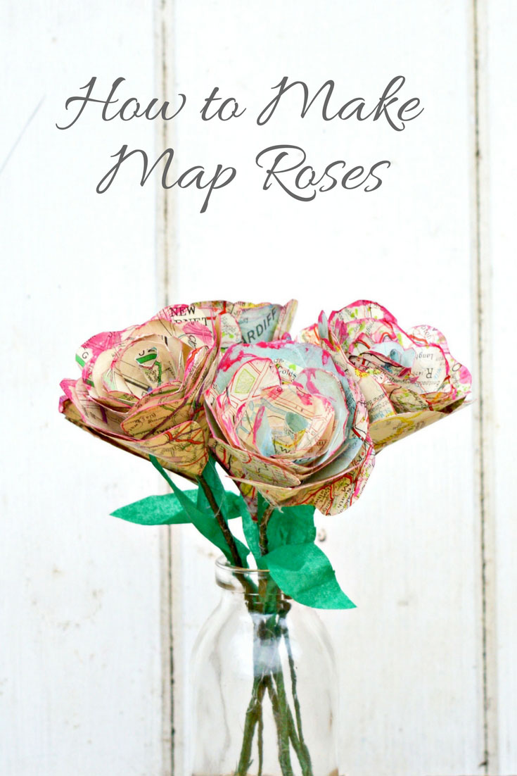 Step by step tutorial on how to make this gorgeous table decoration of map roses.