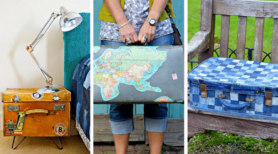 Amazing and unique upcycles of vintage suitcases.