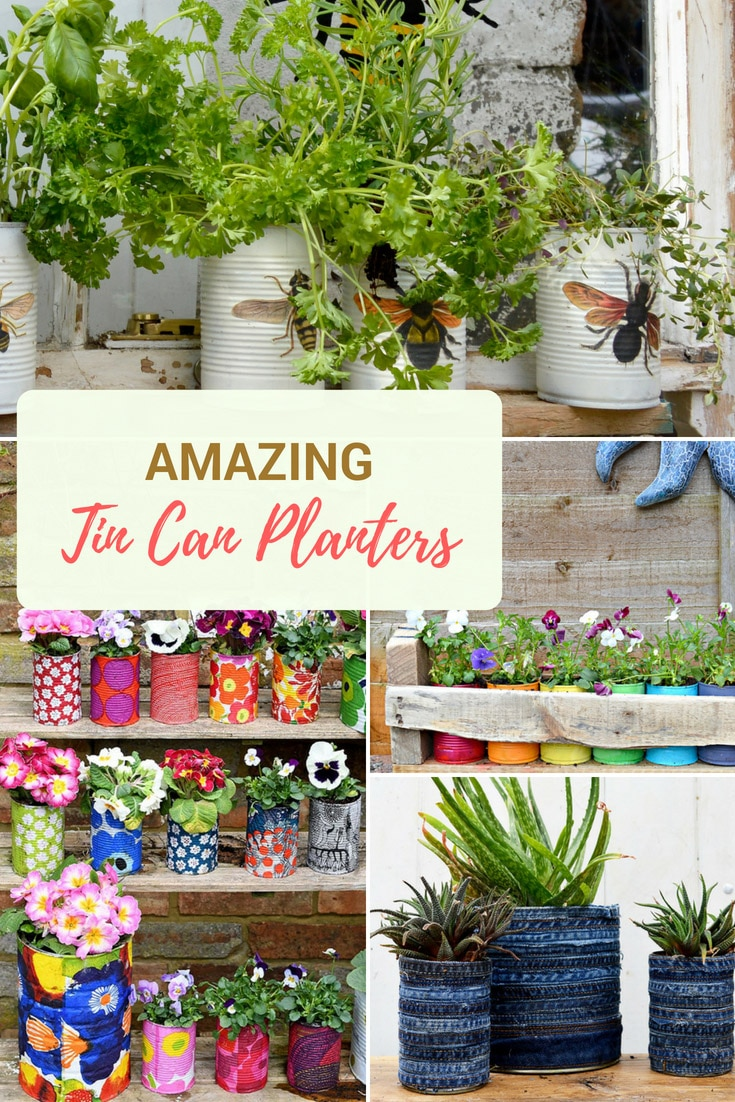 The best upcycled tin can planters