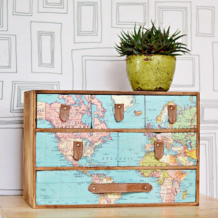 Make  IKEA Moppe Map Drawers