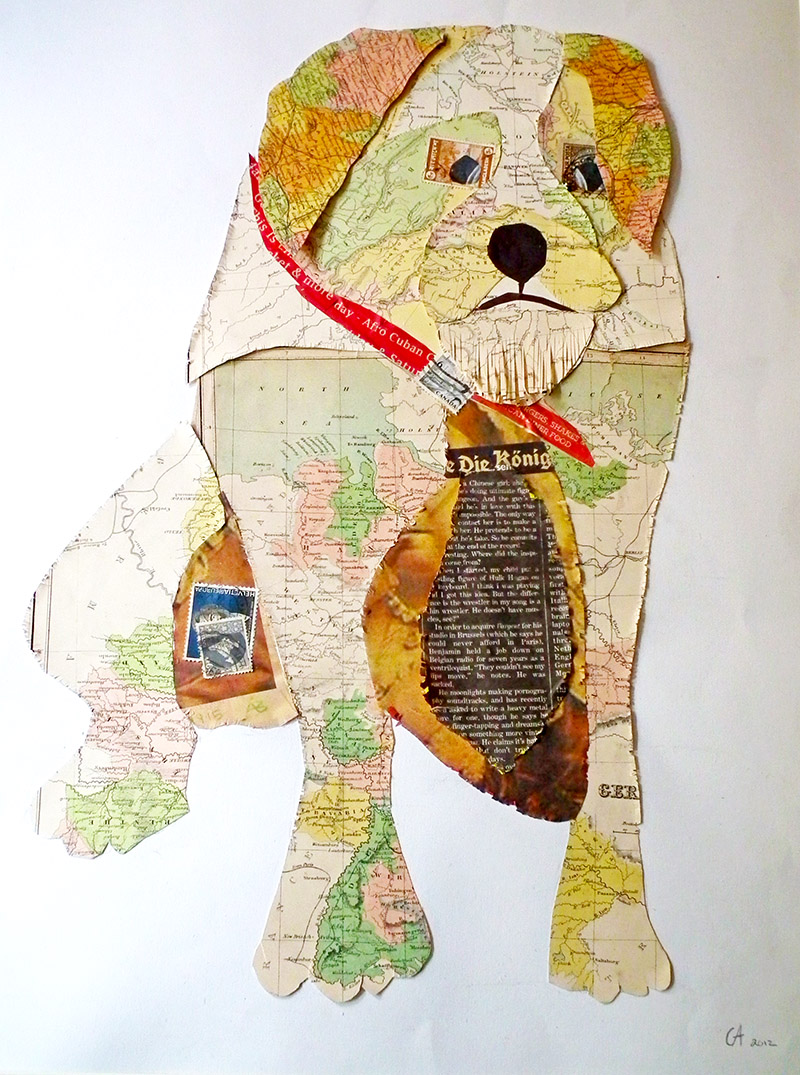 Create some fabulous map art by doing a collage portrait of your pet.  A great tutorial with step by step instructions.