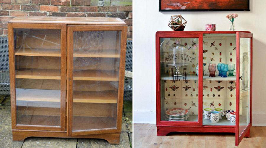 The best chalk paint cupboard upcycle with Annie Sloan Red Emperors Silk,