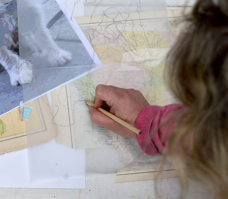 Tracing round maps for map portrait