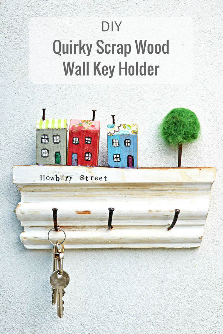 How To Make A Fun Wall Key Holder From Junk Pillar Box Blue