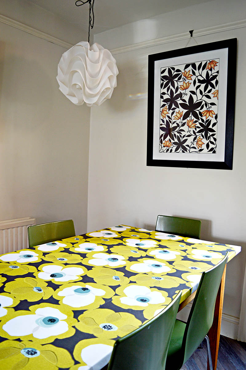 For an easy room update and to achieve a designer look Decoupage table top with wallpaper tutorial.