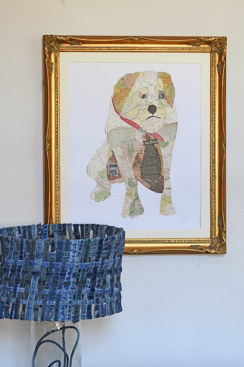 How to make your own personalized map art by making a portrait collage out of old maps