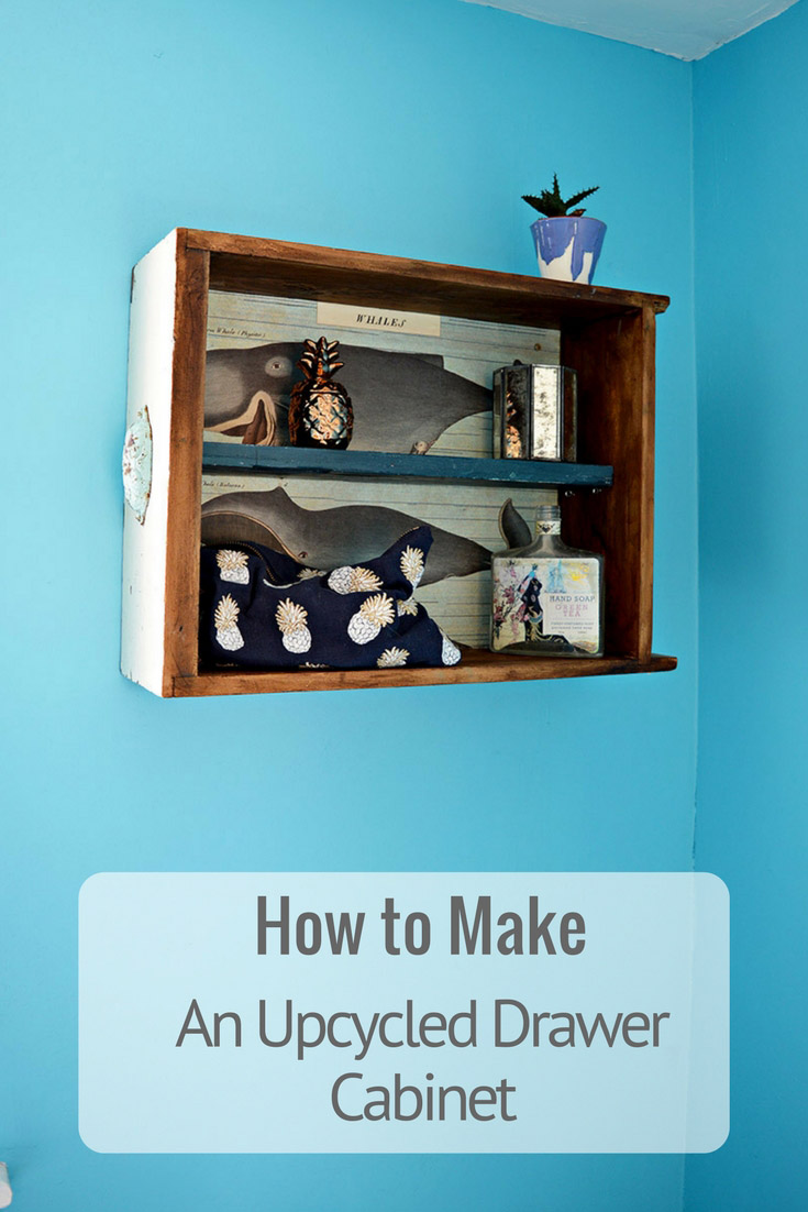 How to make a handy wall cabinet from an upcycled drawer.