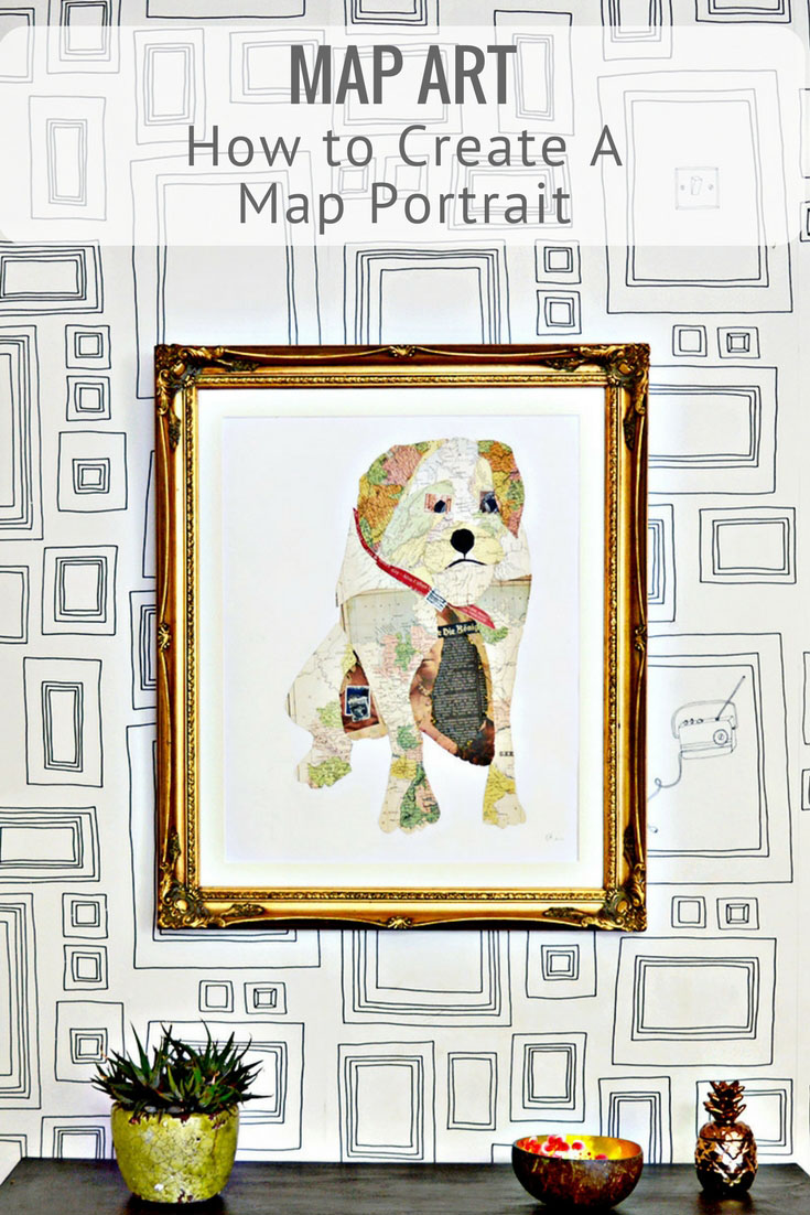 How to turn a photo of your pet into a fabulous unique piece of map art.