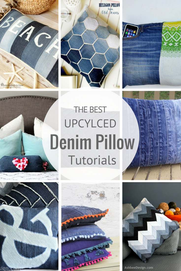 dont throw away your old jeans use them to make some fabulous upcycled denim - Pillow Design Ideas