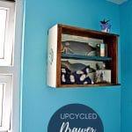 DIY Bathroom wall storage