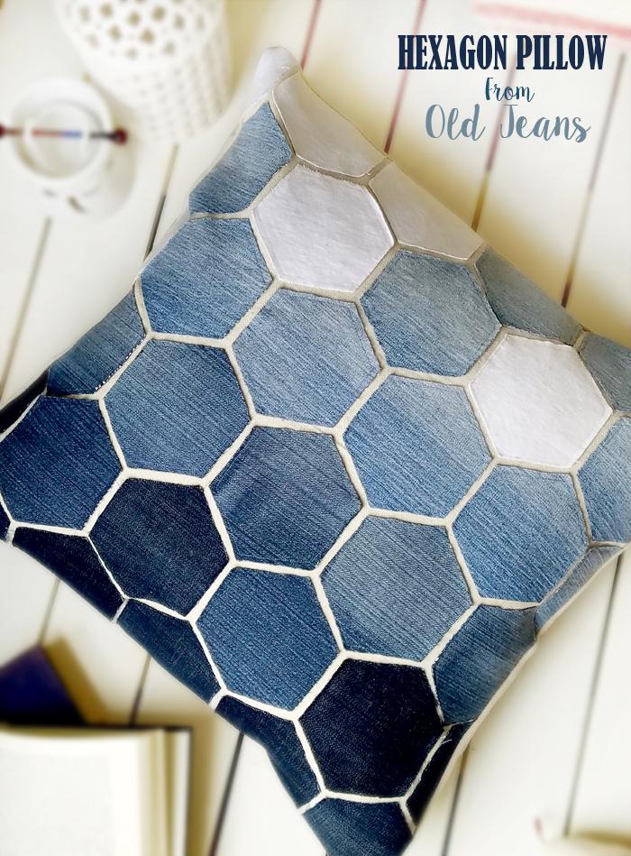 All the Best Ideas for Making Denim Pillows (Cushions) - Pillar Box Blue