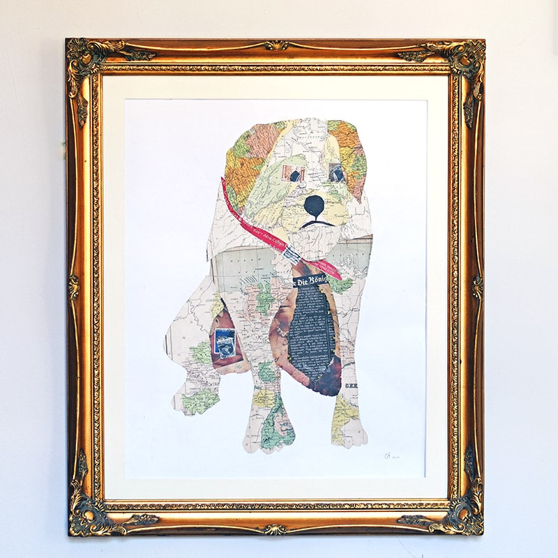 Make some gorgeous unique map art by immortalizing your pet in a map portrait. Step by step tutorial.