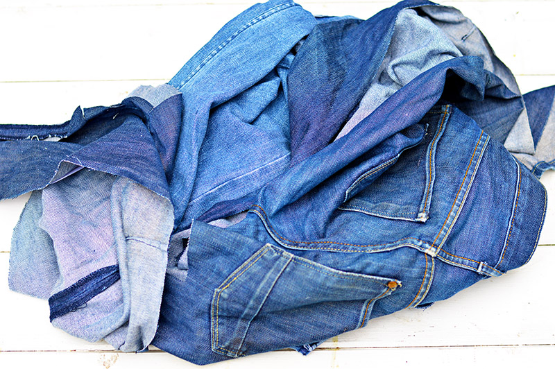 Jeans to upcycle for denim patchwork