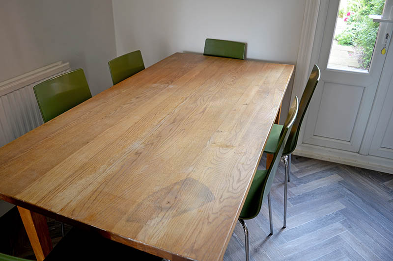 Table top before
