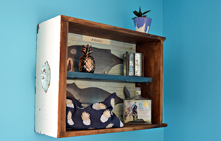 Upcycled drawers into a handy wall storage unit. A step by step tutorial.