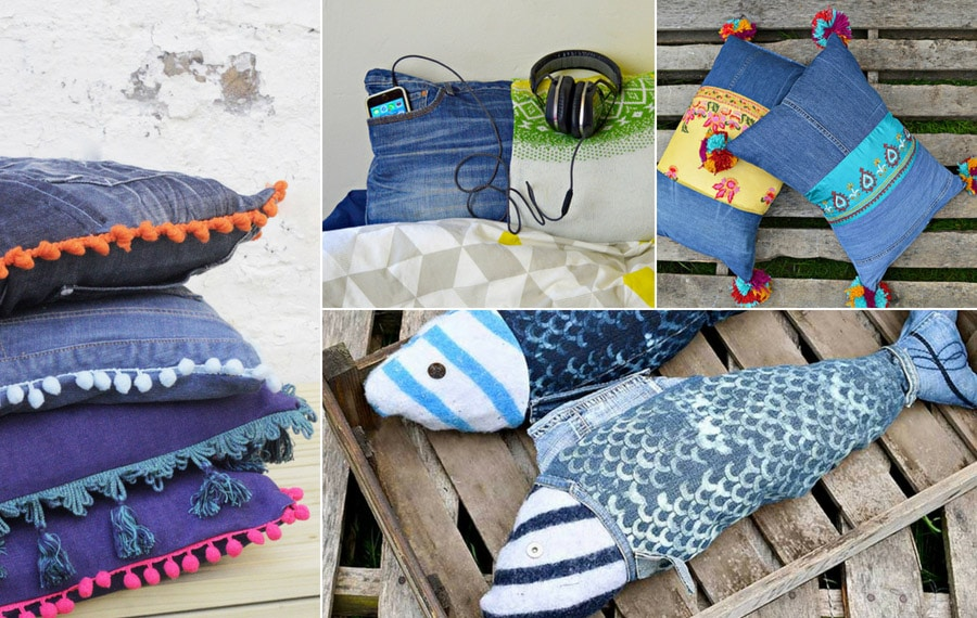 15 of the Coolest and unique denim pillows
