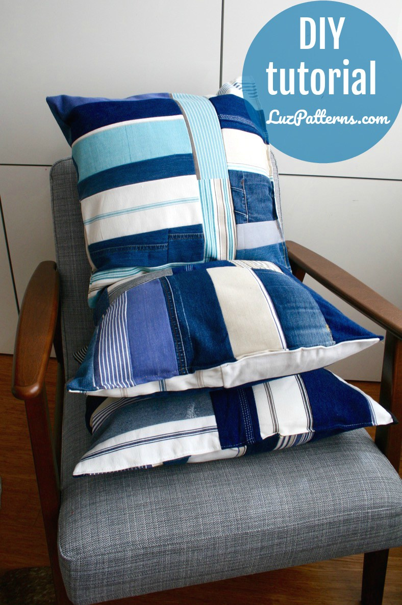 upcycled pillows