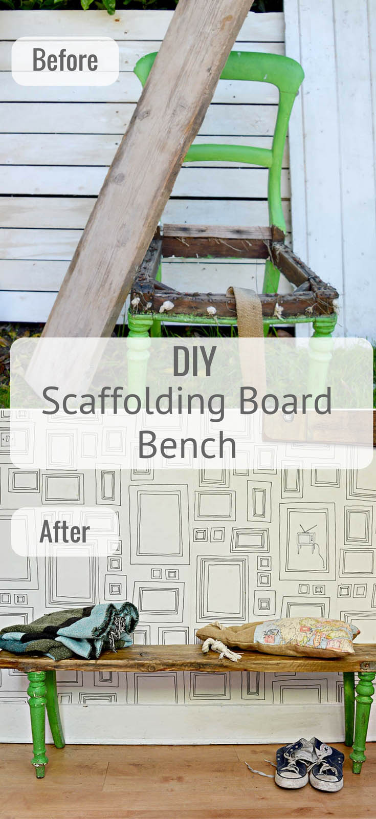 How To Make Unique Scaffolding Board Furniture Pillar