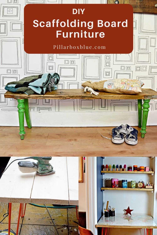 DIY scaffolding board furniture