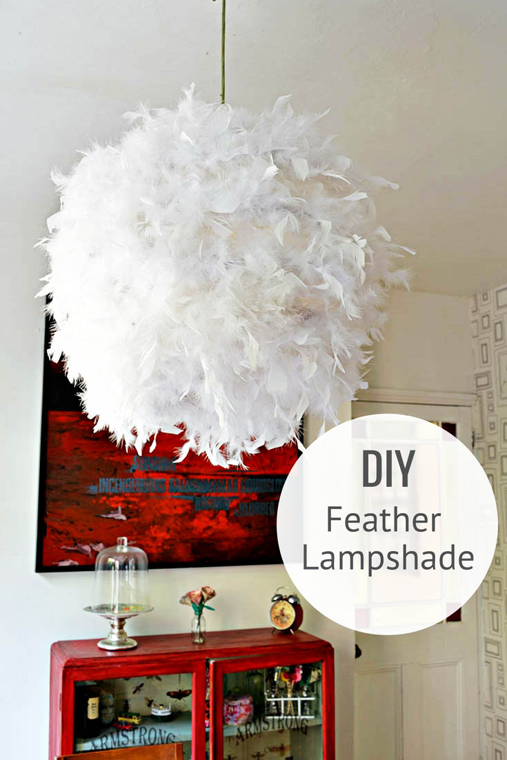 Make Your Own Gorgeous DIY Feather Lampshade This Simple IKEA Hack Regolit Will