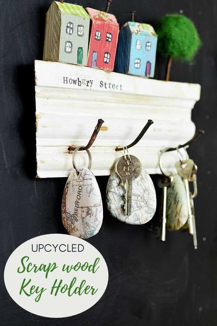 How to make a wooden key holder from junk