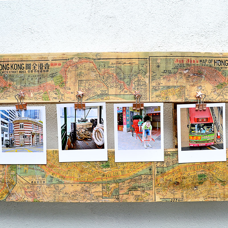 Map printed pallet frame