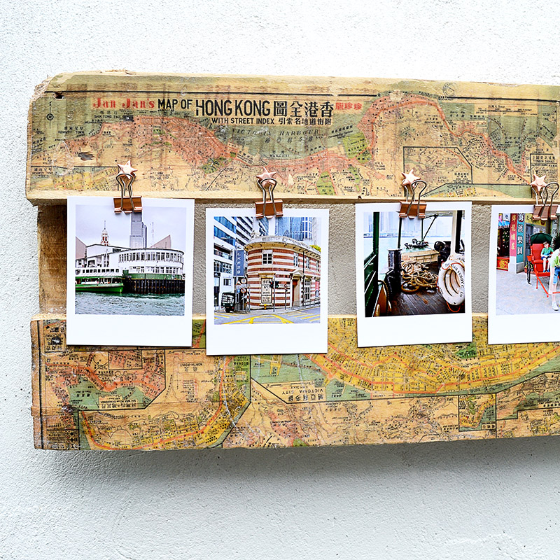 How To Make A Stunning Printed Map Picture Frame Pillar Box Blue
