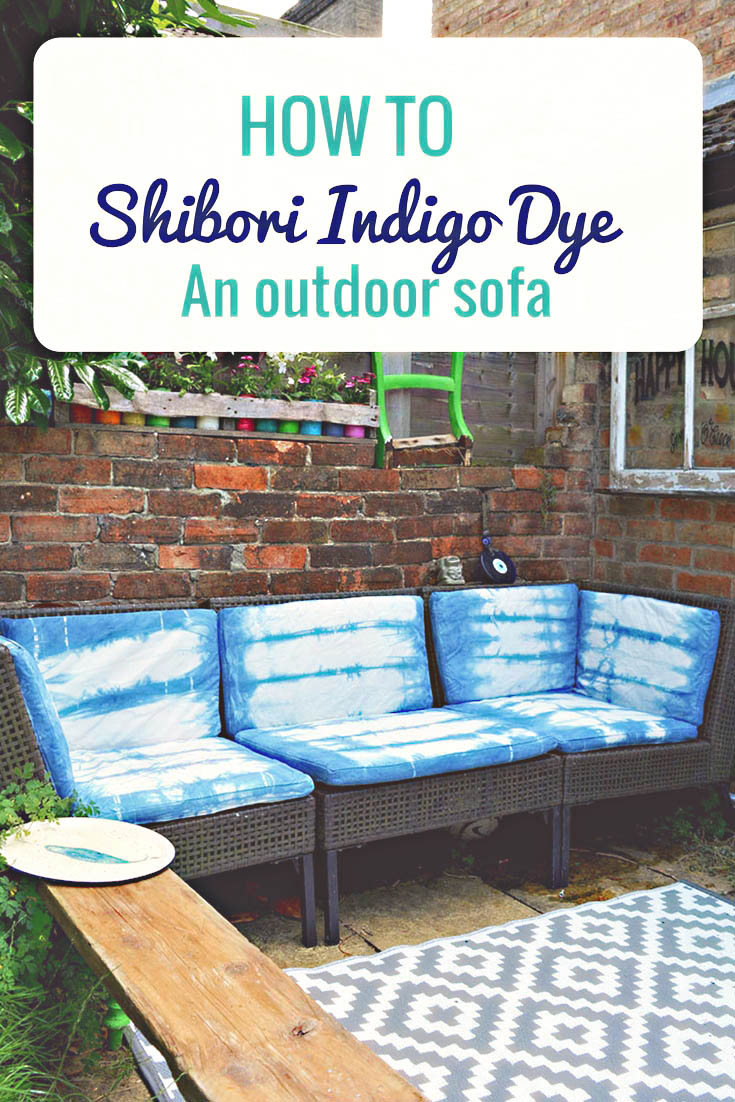 How to update an Ikea Ammero sofa with indigo shibori dyeing.  Very simple and fun to do.