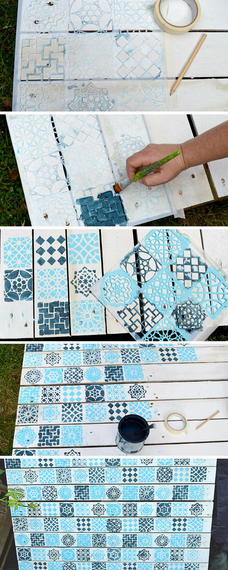 How To Make A Beautiful Painted Wood Pallet Planter Pillar Box Blue