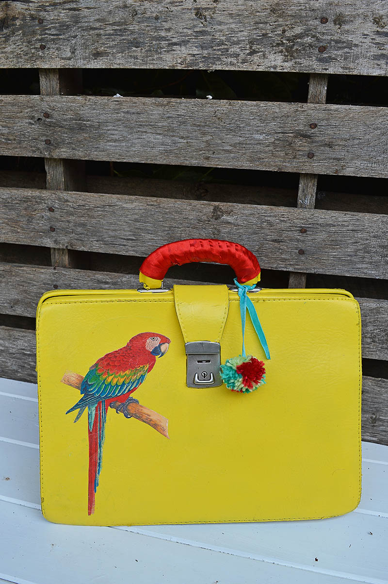 How to make a stunning upcycled leather bag.  This was done with spray paints and iron on image transfer.