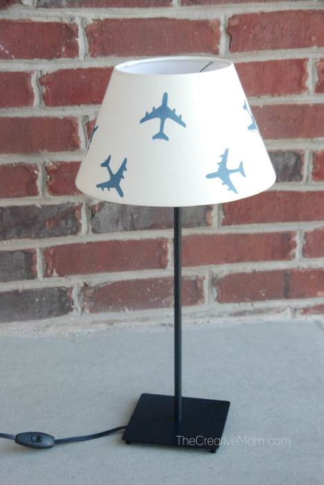 IKEA airplane lampshade hack