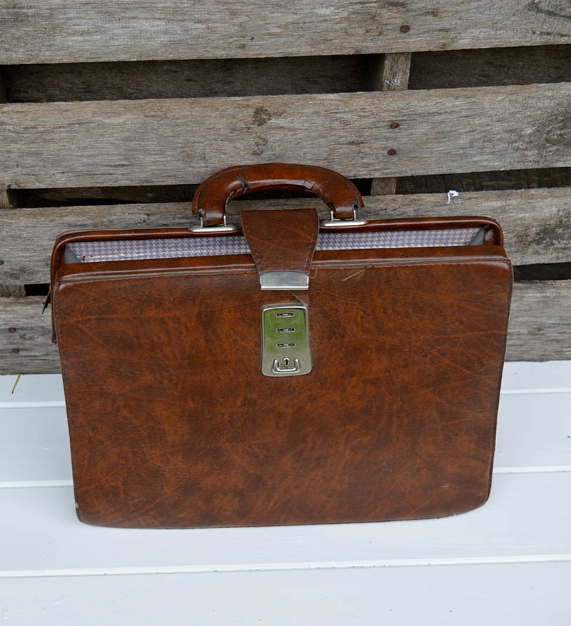 upcycled leather bag before