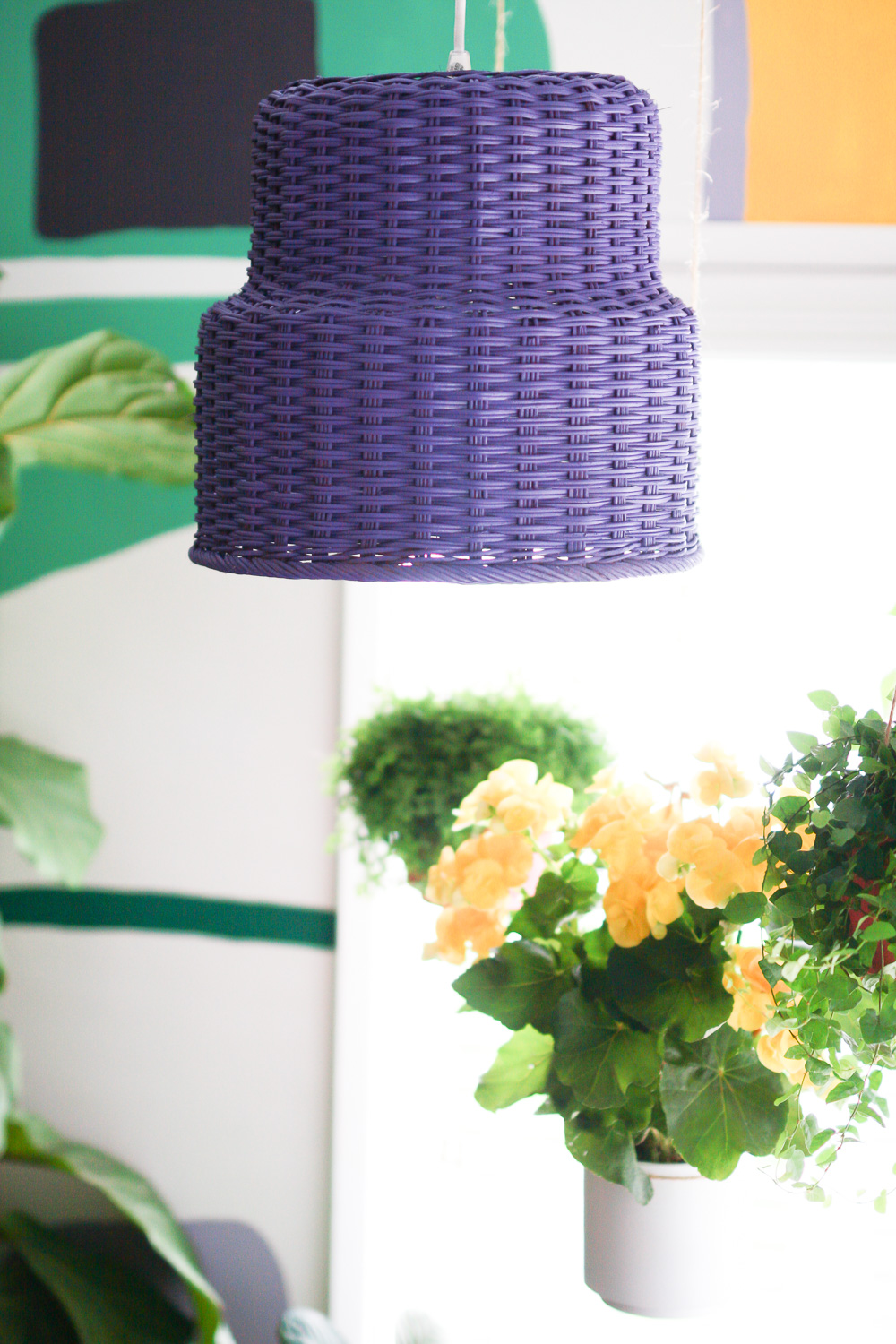 IKEA lamp hack basket