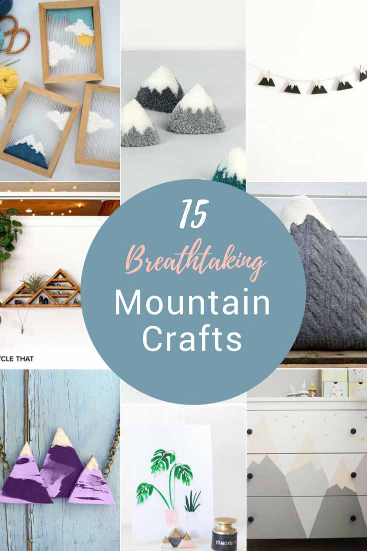 If you love the mountains as much as I do, you will love these 15 breathtaking mountain crafts and DIY's to brighten up your home.
