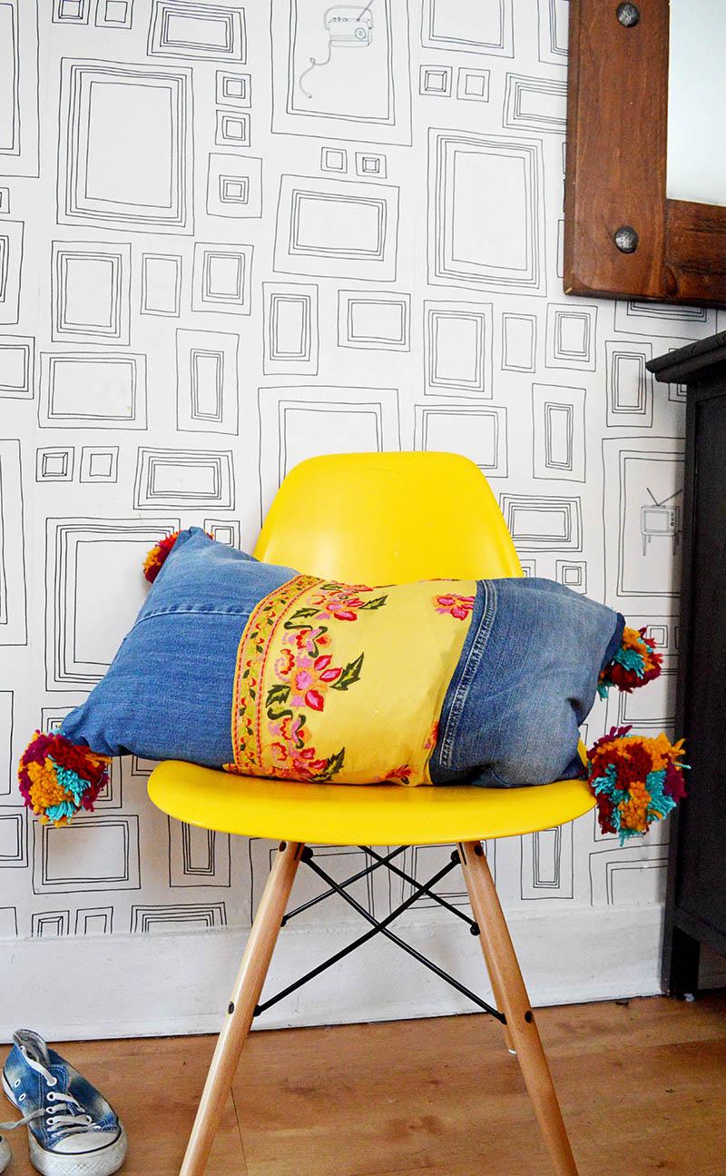 Boho Style Jeans pillows