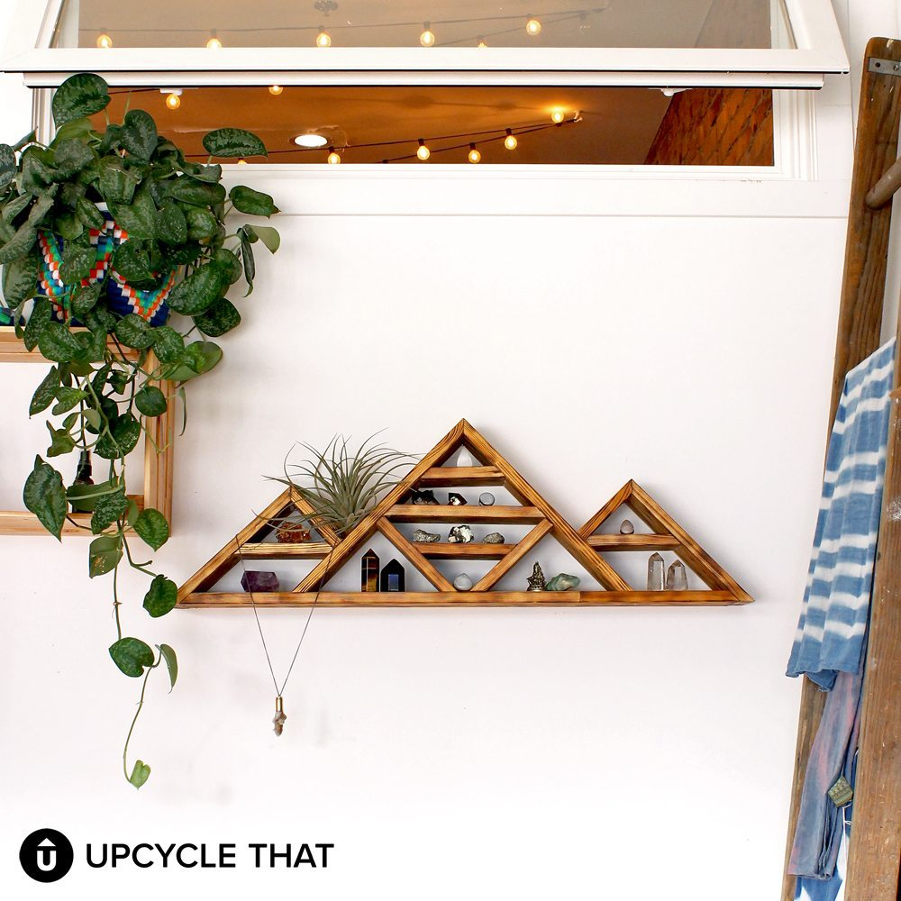 15 of the best mountain crafts and diy 39 s for your home for Mountain shelf diy