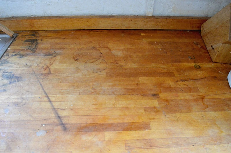 sanded countertop